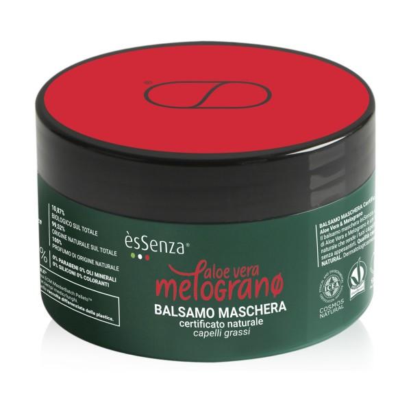 ESSENZA BALSAMO MASCHERA CAPELLI ALOE VERA & MELOGRANO CAPELLI GRASSI VASO 200 ML, DOPO SHAMPOO, S154304, 70949