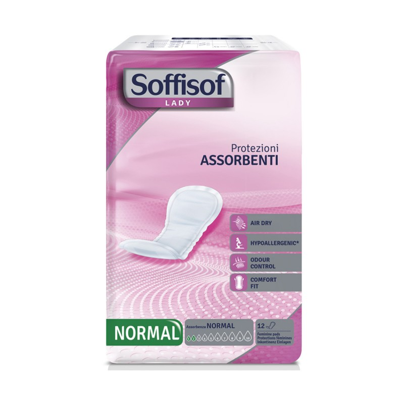 SOFFISOF LADY ASSORBENTI NORMAL 12 PZ DISPOSITIVO MEDICO CE DI CLASSE 1