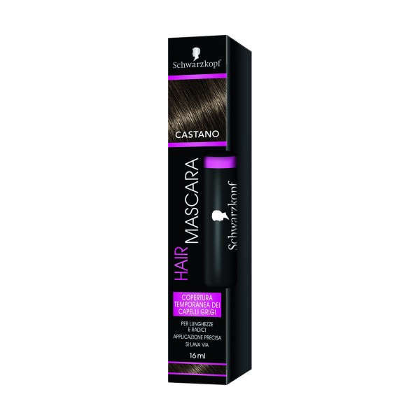 SCHWARZKOPF HAIR MASCARA CASTANO COPERTURA TEMPORANEA 16 ML, COLORANTI, S154154, 71041