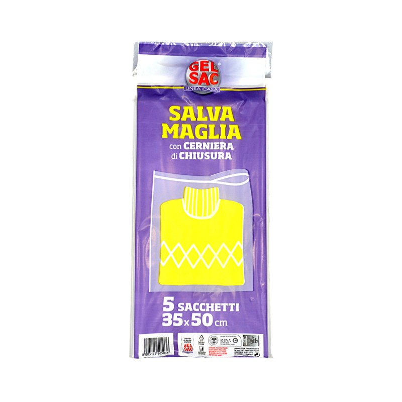 GEL SAC SACCHI SALVAMAGLIA 35x50 CON CERNIERA 5 PZ