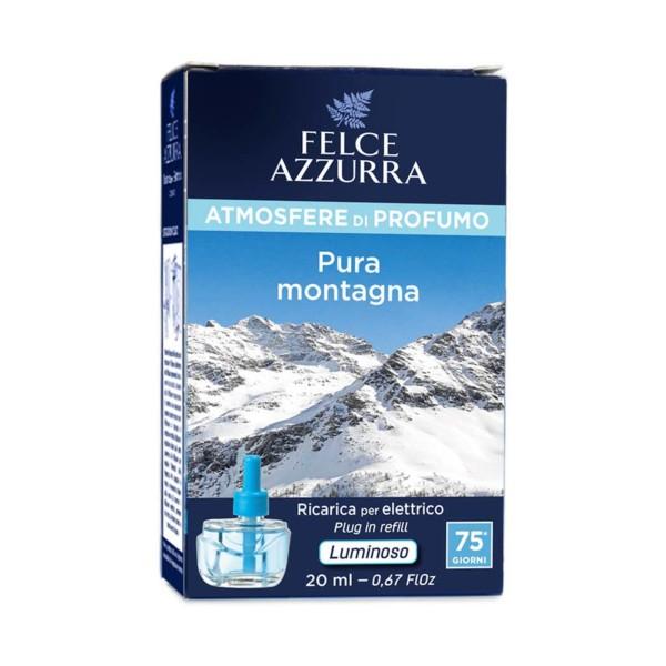 FELCE AZZURRA RICARICA AL PROFUMO PURA MONTAGNA 20 ML  (PER DIFFUSORE ELETTRICO), DEODORANTE AZIONE ISTANTANEA, S128574, 71794