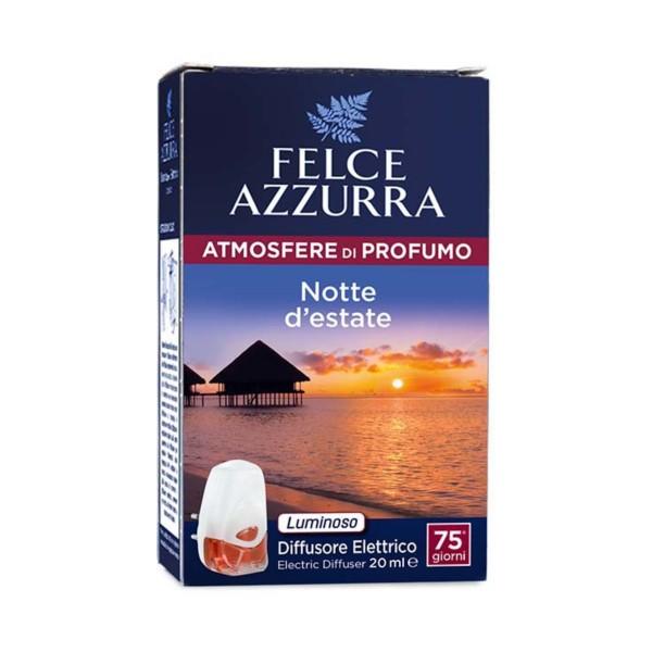 FELCE AZZURRA DIFFUSORE ELETTRICO + RICARICA NOTTE D'ESTATE 20 ML, DEODORANTE AZIONE ISTANTANEA, S151752, 71796