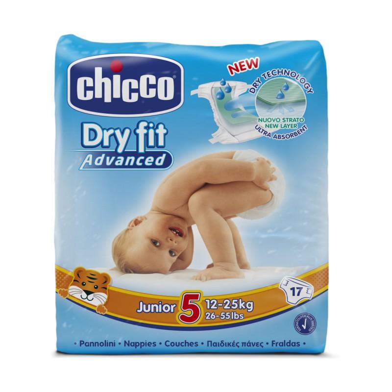 CHICCO DRY FIT ADVANCED 5 JUNIOR 12-25 KG 17 PZ  PANNOLINI