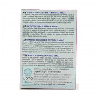 INTIMA+ COPPETTA MESTRUALE IN SILICONE MEDICALE AL 100% SIZE L
