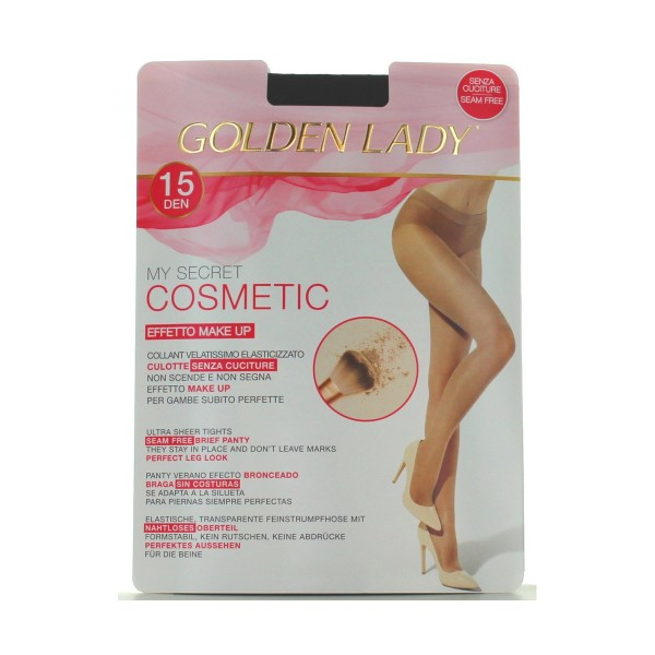 GOLDEN LADY MY SECRET COSMETIC 15 DENARI 60I NERO TAGLIA 2/S, CALZE, COLLANT & GAMBALETTI, S150890, 72077