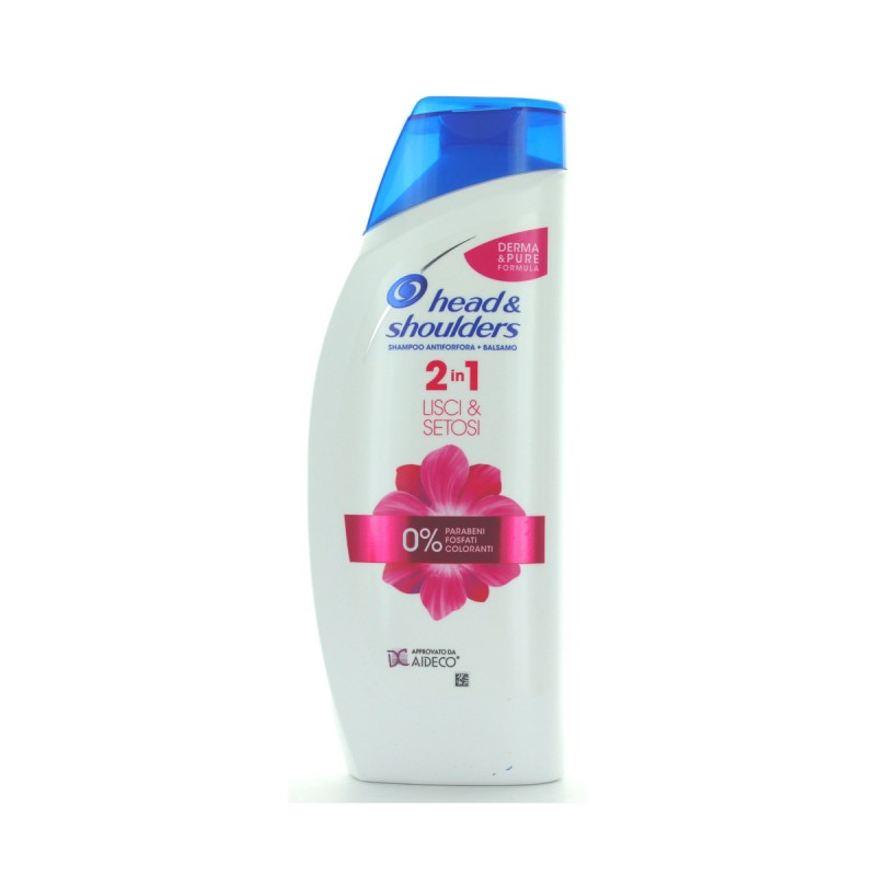 HEAD & SHOULDERS SHAMPOO 2in1 3 ACTION ANTIFORFORA LISCI & SETOSI 540 ML