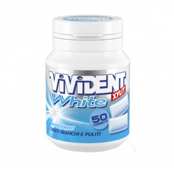 VIVIDENT WHITE XYLIT PEPPERMINT BARATTOLO 50 CONFETTI