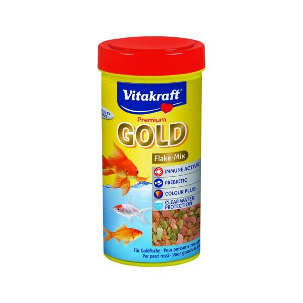 VITAKRAFT GOLD FLAKE-MIX PER PESCI ROSSI BARATTOLO 250 ML , ALTRI ANIMALI, S149407, 72355