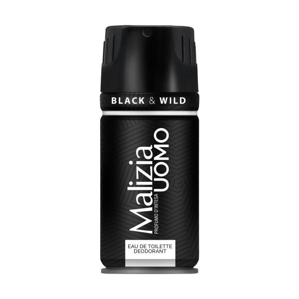 MALIZIA UOMO EDT DEODORANTE BLACK & WILD 150 ML   , PROFUMI UOMO, S115920, 72518