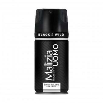 MALIZIA UOMO EDT DEODORANTE BLACK & WILD 150 ML