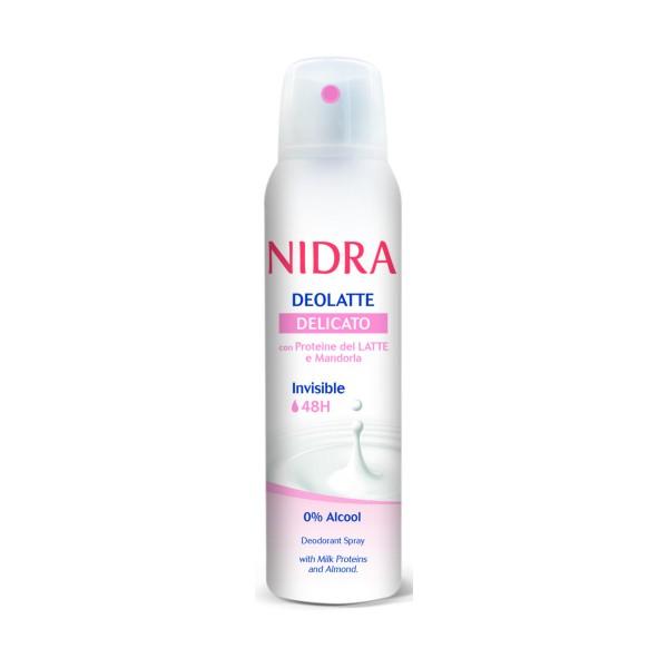 NIDRA DEOLATTE SPRAY INVISIBLE 48H DELICATO 150 ML, DEODORANTI ANTIODORE PER PERSONA, S149026, 72527