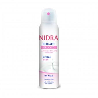 NIDRA DEOLATTE SPRAY INVISIBLE 48H DELICATO 150 ML