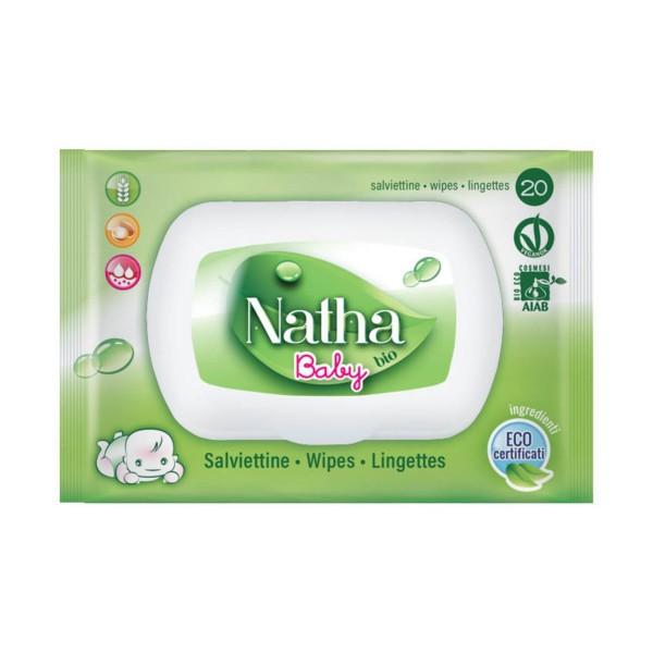 NATHA BIO BABY 20 SALVIETTE AVENA - ARGAN - MICROEMULSIONEI   BAMBINI, SALVIETTINE BIMBI, S148771, 72564
