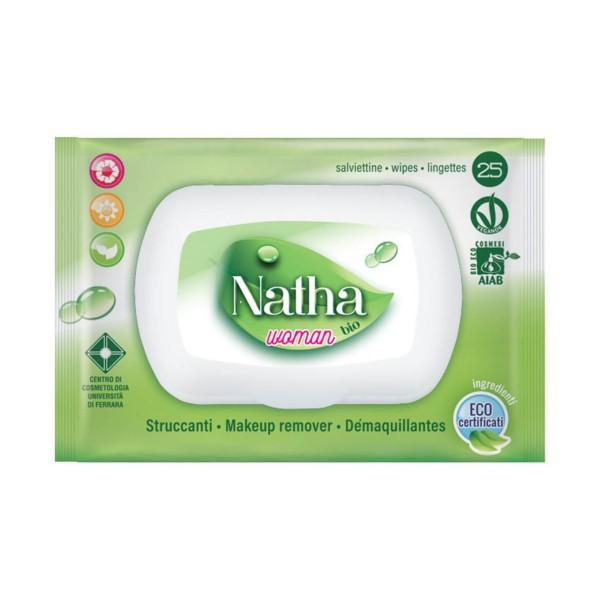 NATHA BIO 25 SALVIETTE STRUCCANTI WOMAN ALTHEA - CAMOMILLA - TE VERDE, PULIZIA VISO DONNA, S148770, 72565