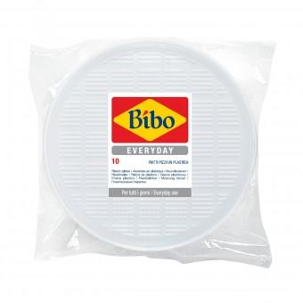 BIBO 10 PIATTI PIZZA IN PLASTICA BIANCA DM 32 CM