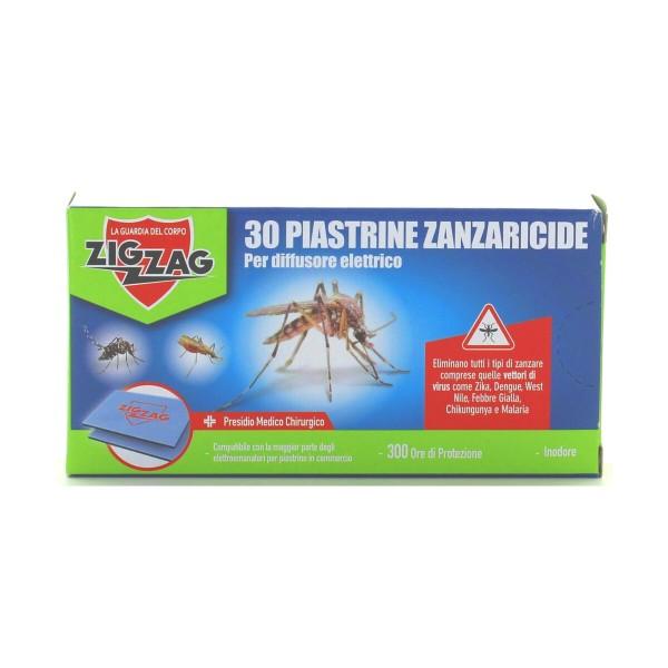 ZIG ZAG PIASTRINE ZANZARICIDE 30 PZ., INSETTICIDI VOLANTI, S147934, 72905