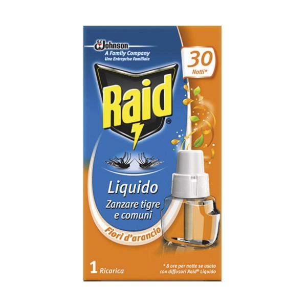 RAID LIQUIDO FIORI D'ARANCIO RICARICA 30 NOTTI, INSETTICIDI VOLANTI, S147746, 72934