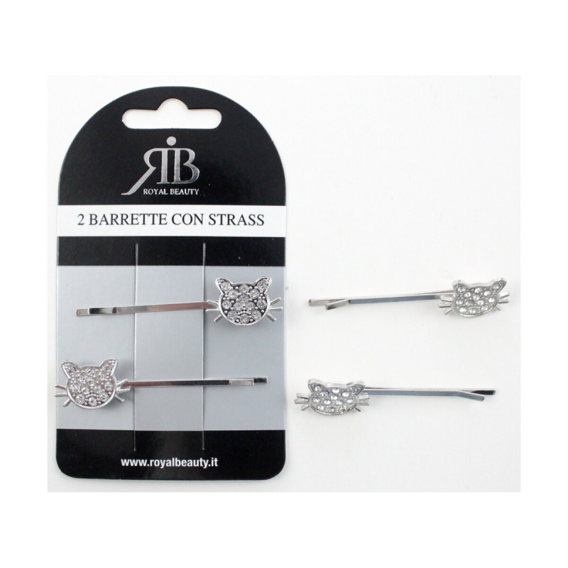 ROYAL BEAUTY 2 BARRETTE PER CAPELLI CON STRASS