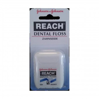 JOHNSON & JOHNSON REACH DENTAL FLOSS FILO INTERDENTALE CERATO 50 MT