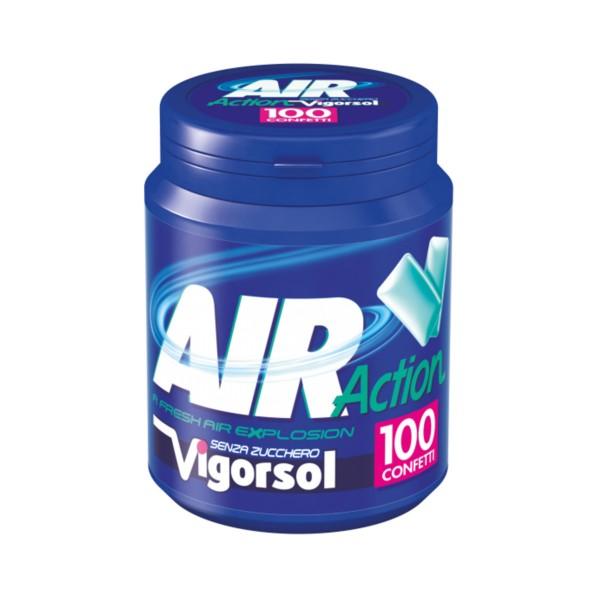 VIGORSOL AIR ACTION SENZA ZUCCHERO BARATTOLO 100 CONFETTI    , GOMMA DA MASTICARE, S143609, 74046