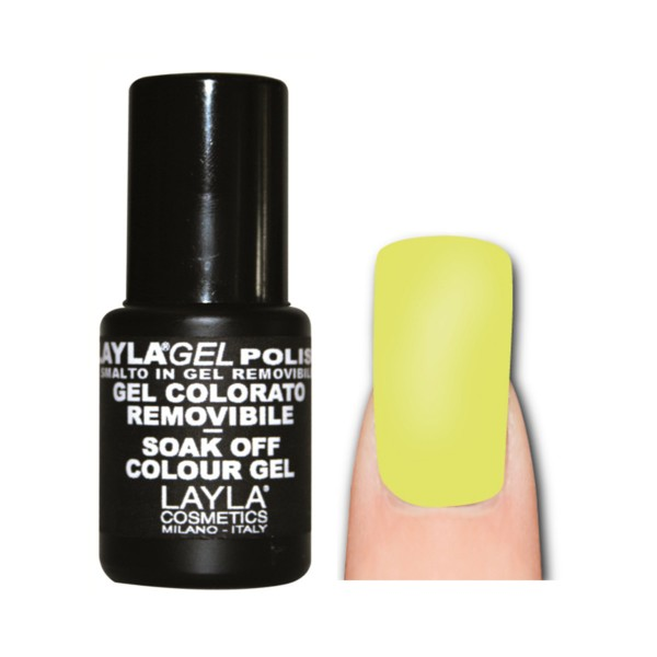 LAYLA SMALTO IN GEL COLOR REMOVIBLE LIGHT FLUO YELLOW 170, UNGHIE, S143478, 74111