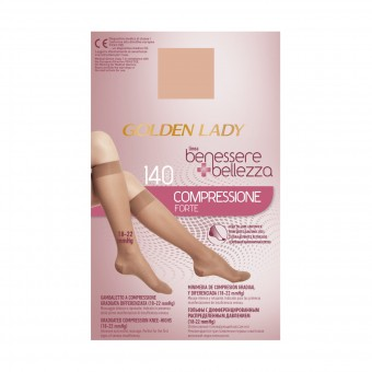 GOLDEN LADY GAMBALETTO BENESSERE & BELLEZZA A COMPRESSIONE FORTE GRADUATA DIFFERENZIATA 140 DENARI PLAYA TAGLIA XL