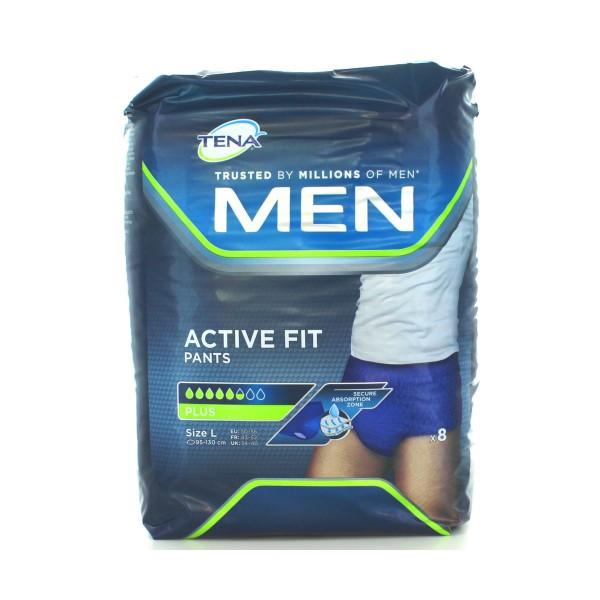 TENA MEN PANTS ACTIVE FIT PLUS MISURA L 8 PZ , INCONTINENZA ADULTI, S142326, 74246