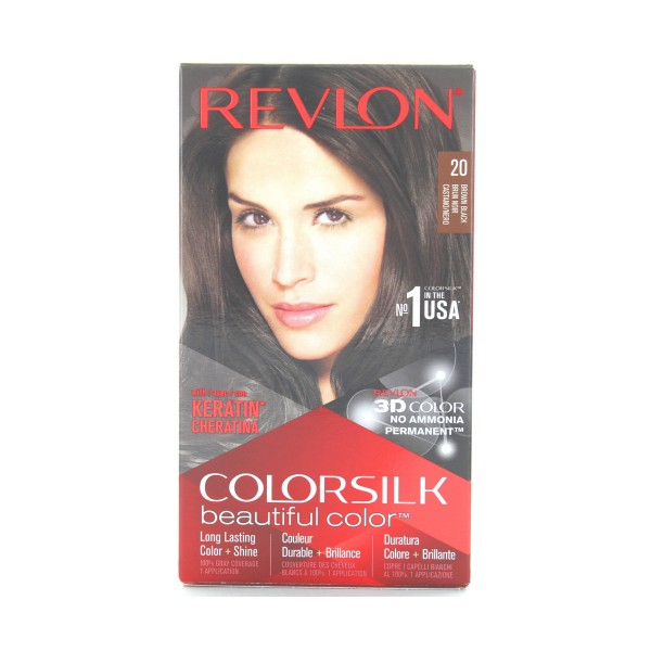 REVLON COLOR SILK PERMANENTE NO AMMIACA 20 CASTANO NERO, COLORANTI, S141598, 74431