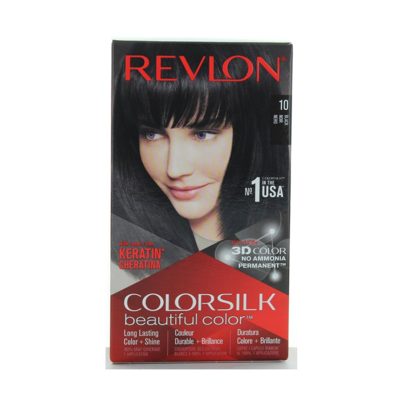 REVLON COLOR SILK PERMAMENTE NO AMMONIACA 10 NERO