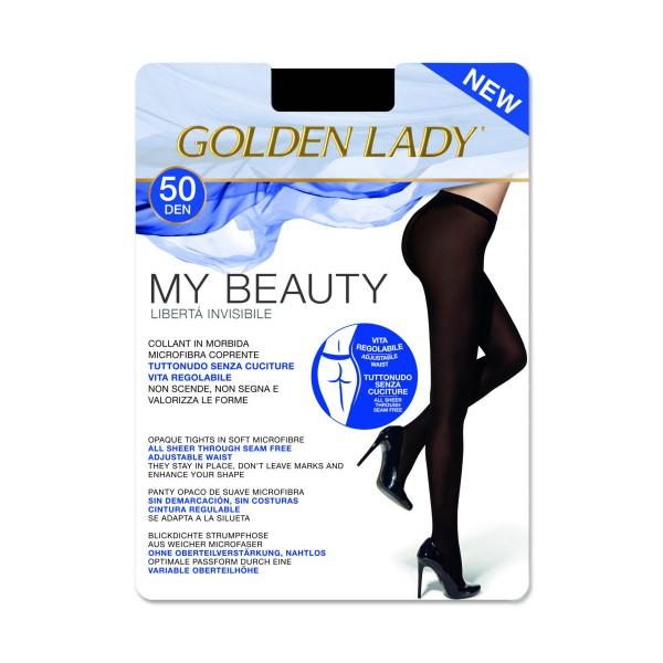GOLDEN LADY MY BEAUTY 50 DENARI COLLANT COPRENTE SENZA CUCITURE NERO TAGLIA 3 - MEDIUM, CALZE, COLLANT & GAMBALETTI, S141273, 74519