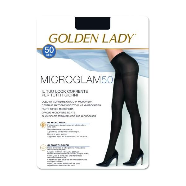 GOLDEN LADY MICROGLAM 50 DEN COLLANT COPRENTE OPACO NERO TAGLIA 4 - LARGE, CALZE, COLLANT & GAMBALETTI, S141271, 74521