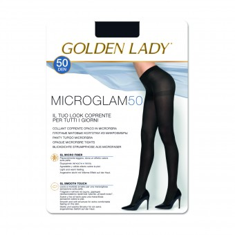 GOLDEN LADY MICROGLAM 50 DEN COLLANT COPRENTE OPACO NERO TAGLIA 4 - LARGE