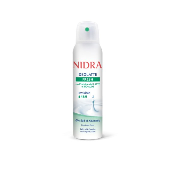 NIDRA DEOLATTE DEODORANTE SPRAY INVISIBLE 48H FRESH 150 ML , DEODORANTI ANTIODORE PER PERSONA, S141060, 74564