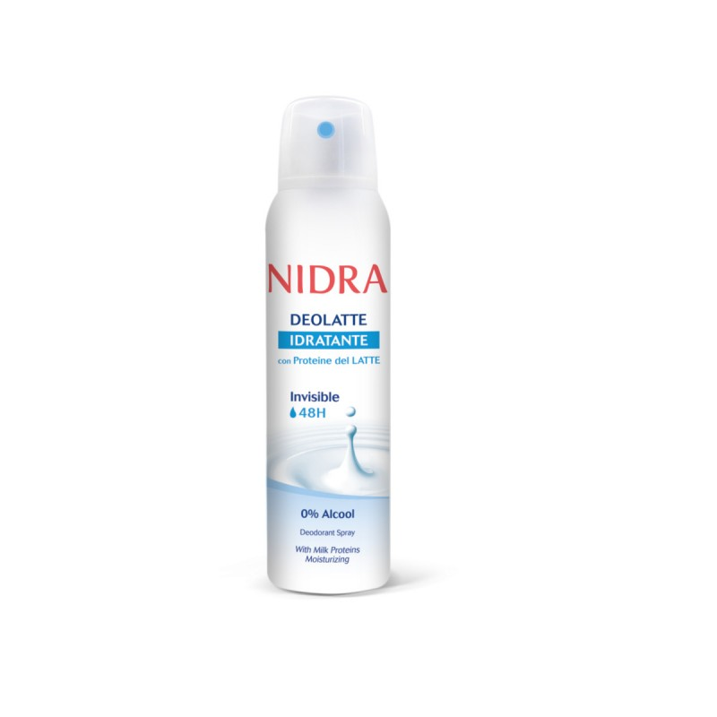 NIDRA DEOLATTE DEODORANTE SPRAY INVISIBLE 48H IDRATANTE 150 ML