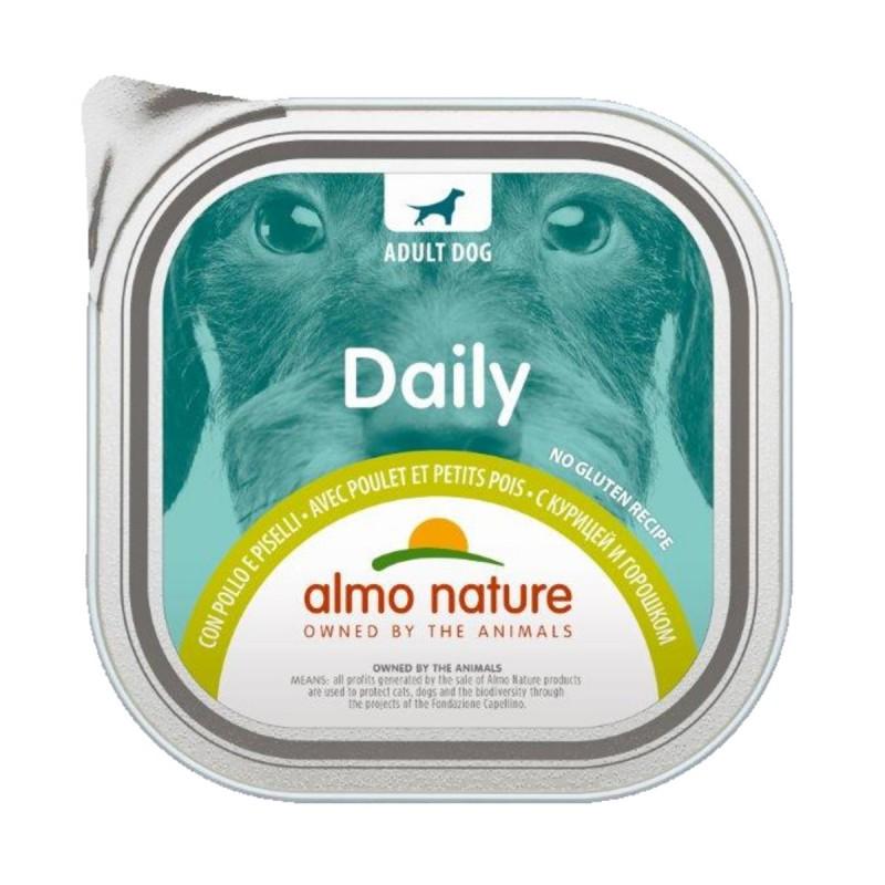 ALMO NATURE DAILY CANE POLLOePISELLI VASCHETTA 300 Grammi