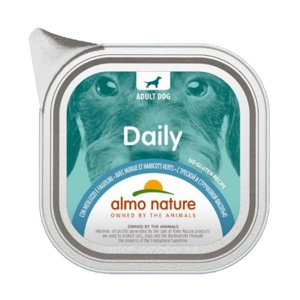 ALMO NATURE DAILY CANE MERLUZZOeFAGIOLINI VASCHETTA 100 Grammi, NUTRIZIONE, S139391, 74790