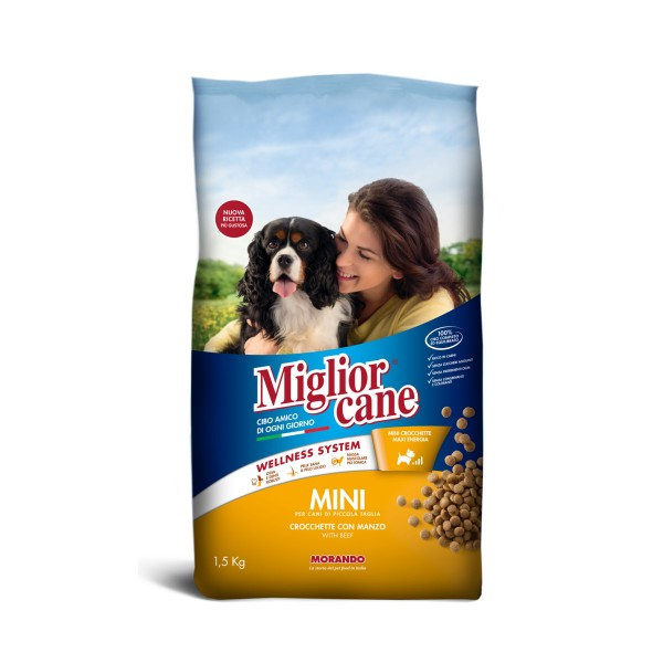 MIGLIOR CANE MINI CROCCHETTE CON MANZO SACCO 1,5 KG   , NUTRIZIONE, S139117, 74866