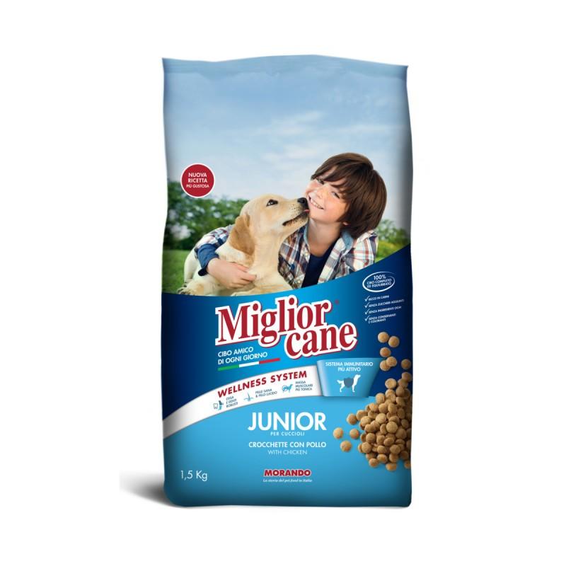MIGLIOR CANE JUNIOR CROCCHETTE CON POLLO SACCO 1,5 KG