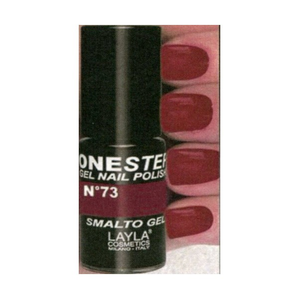 LAYLA SMALTO GEL ONE STEP N.73 VIBRANT LOVE, UNGHIE, S137913, 75073