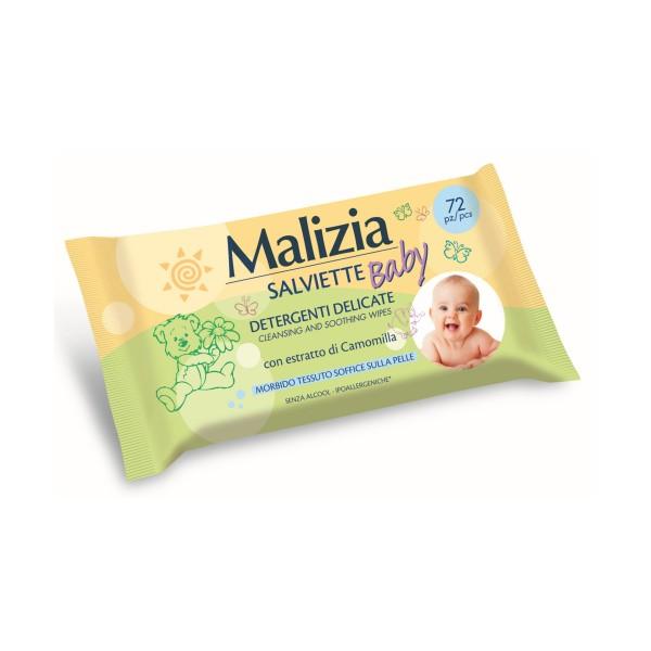 MALIZIA BABY SALVIETTE DETERGENTI DELICATE 72 PEZZI, SALVIETTINE BIMBI, S136961, 75205
