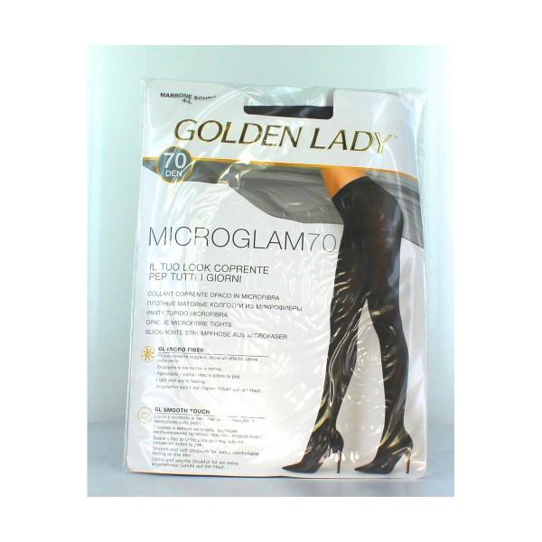 GOLDEN LADY COLLANT COPRENTE MICROGLAM 70 DENARI MARRONE SCURO TAGLIA 4/L, CALZE, COLLANT & GAMBALETTI, S135311, 75576