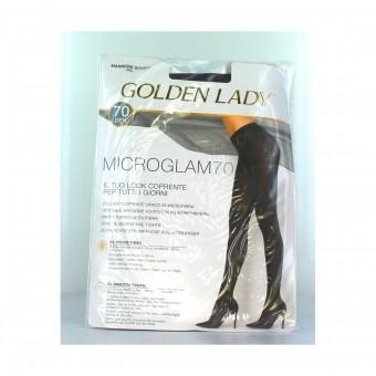 GOLDEN LADY COLLANT COPRENTE MICROGLAM 70 DENARI MARRONE SCURO TAGLIA 4/L