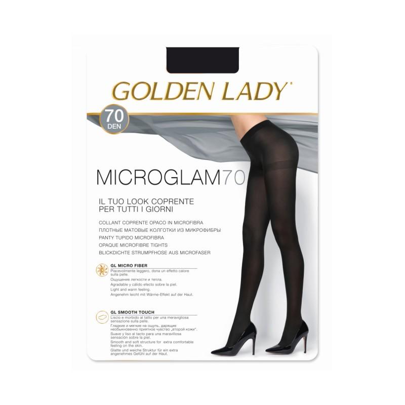 GOLDEN LADY COLLANT COPRENTE MICROGLAM 70 DENARI MARRONE SCURO TAGLIA 2/S