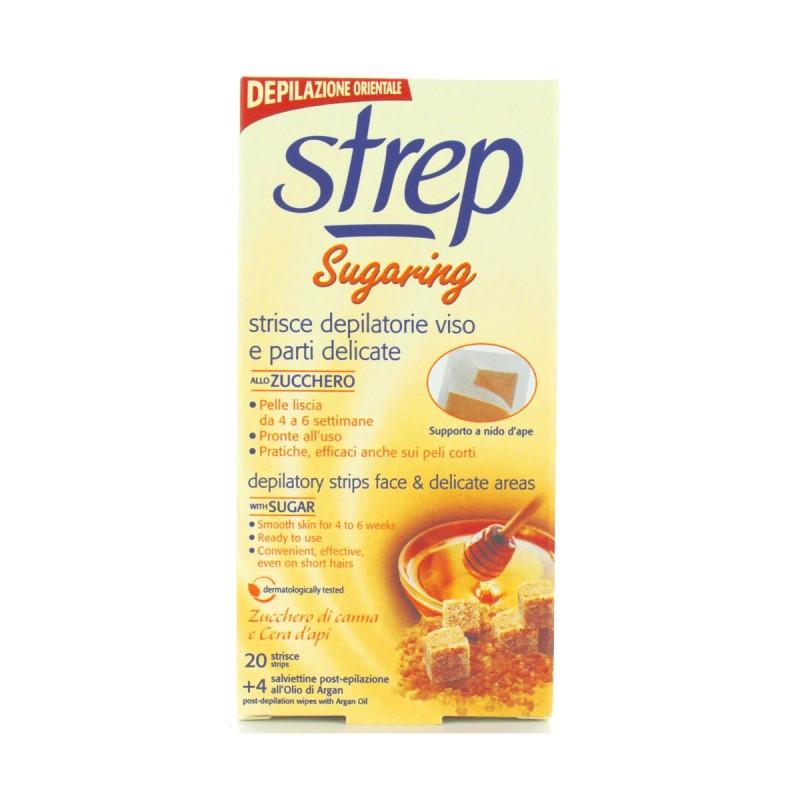 STREP STRISCE DEPILATORIE VISO SUGARING 20 PEZZI