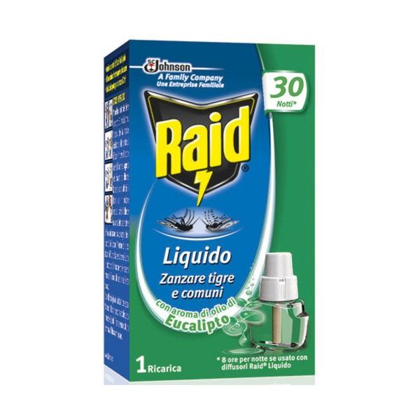 RAID INSETTICIDA RICARICA LIQUIDO EUCALIPTO 30 NOTTI, INSETTICIDI VOLANTI, S133927, 75783