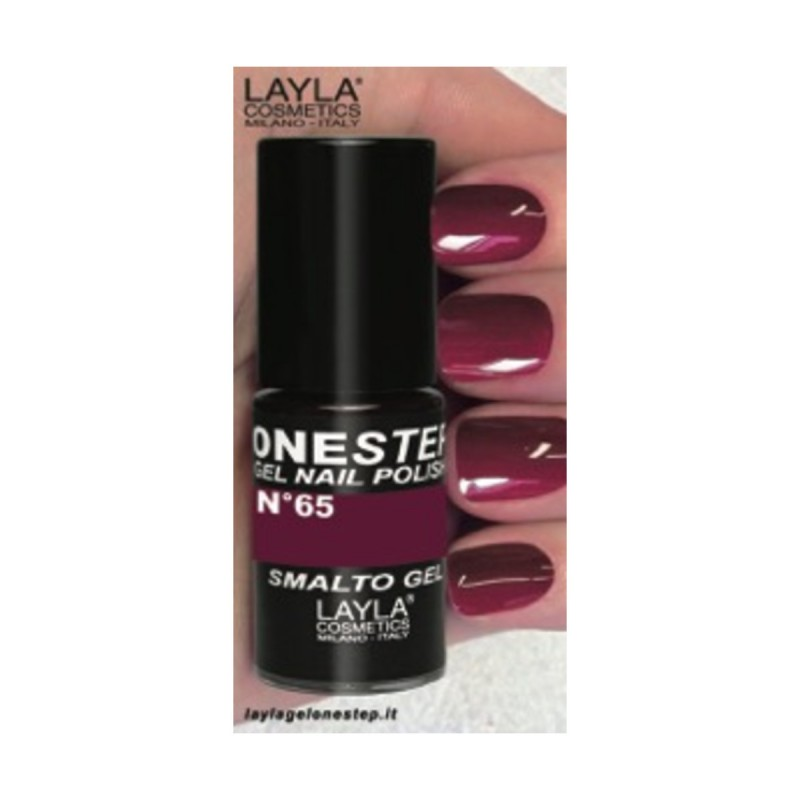LAYLA SMALTO GEL ONE STEP N.65 RED PLUM