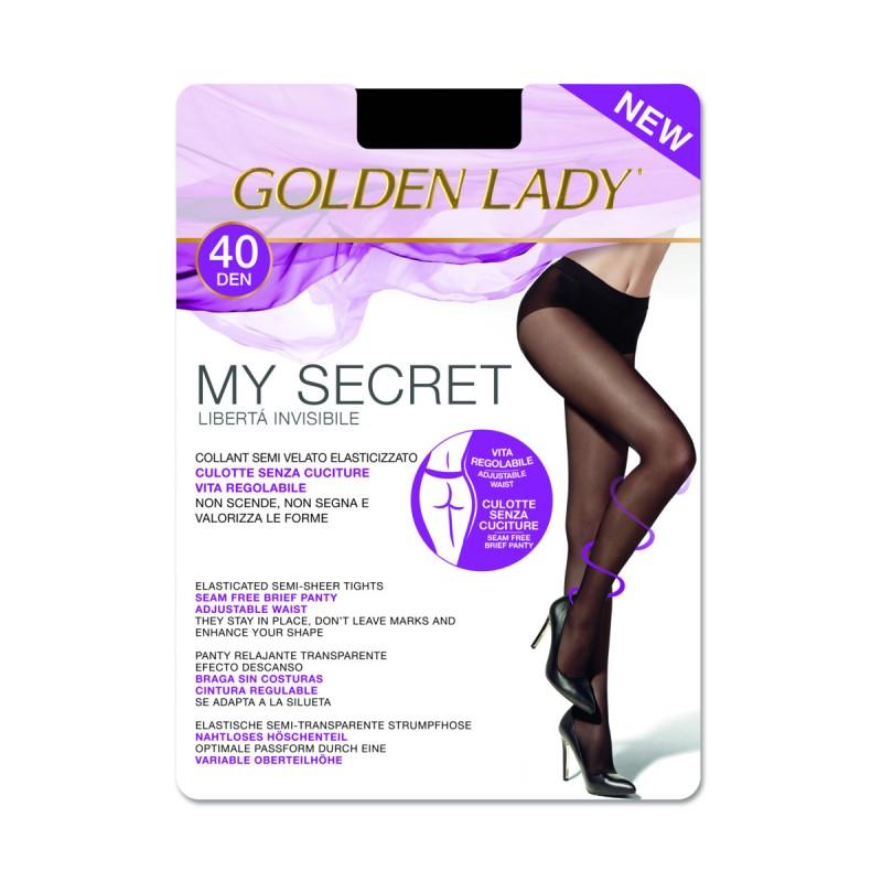 GOLDEN LADY COLLANT MY SECRET 40 DENARI NERO TAGLIA 5/XL