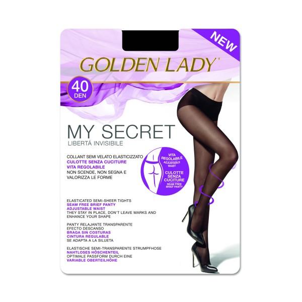 GOLDEN LADY COLLANT MY SECRET 40 DENARI NERO TAGLIA 5/XL, CALZE, COLLANT & GAMBALETTI, S131983, 75989