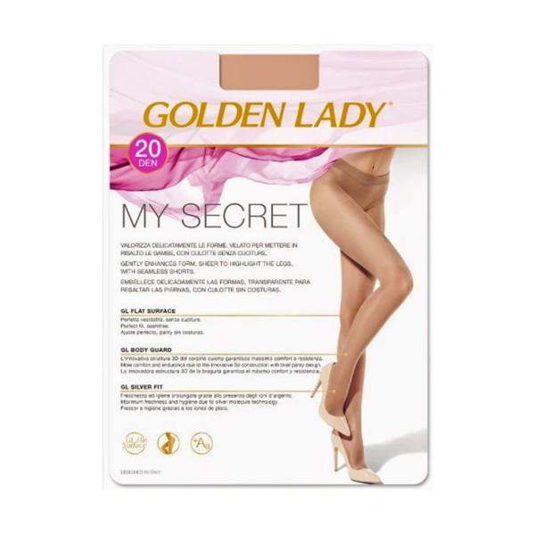 GOLDEN LADY MY SECRET 20 DENARI MELON TAGLIA 3/M , CALZE, COLLANT & GAMBALETTI, S131969, 76000