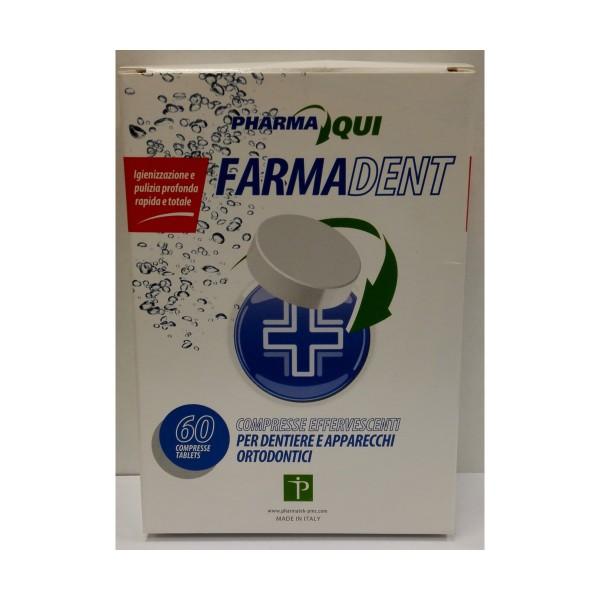 FARMADENT 60 COMPRESSE EFFERVESCENTI PER DENTIERE e APPARECCHI ORTODONTICI, CURA DENTIERE, S131120, 76057